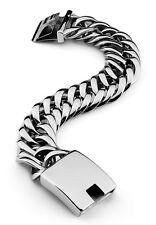 Links Silver Stainless Steel Bracelet �from Usa】22mmRocker Biker Cuban Curb