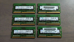 Lot of six Samsung 2GB DDR3 SODIMM RAM sticks | M471B5674QH0-YKO