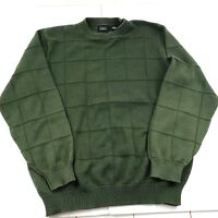 Haggar Men's Crew Neck Sweater Long Sleeve Pull Over (L) Large Green Pre-Owned