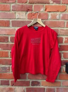 VINTAGE POLO JEANS RALPH LAUREN LONG SLEEVED T SHIRT - SIZE LARGE WOMENS