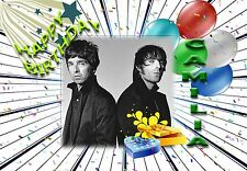 Personalised - OASIS NOEL LIAM GALLAGHER 2 - Birthday Greeting Card Any Occasion