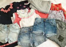 Bundle of Girls Clothes Age 4-5 Years Denim Shorts Summer Tops Dresses