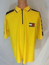 Vtg 1990s Tommy Hilfiger Jersey Tommy 88 Short Sleeve Zipper Up Size XL