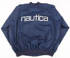Vintage Nautica Spell Out Light Bomber Jacket | Men's L | Retro Harrington Coat