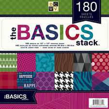 Diecuts With A View (1-Pack) DCWV Paper Stack 12'X12' 180/Sheets Basics PS005197