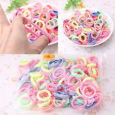 160Pcs Colorful Child Kids Hair Holders Cute Rubber Hair Band Elastics Ropes New