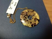TJ - MAX   ROUND   PENDANT AND GOLD CHAIN 14 KT New With Tag