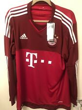 adidas Men's's. FC Bayern Away Goalkeeper Jersey- Red Size L- New With Tags