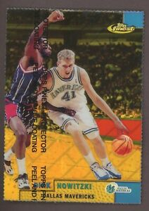 1999 Topps Finest Gold Refractor w/ Coating #60 Dirk Nowitzki RC Rookie /100