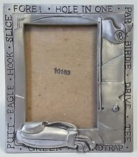 Small Golfing Picture Frame Seagull Pewter 1997 Canadian Stocking Stuffer Golfer