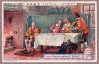 Life Of Shakespeare 1616 British Literature History c1905 Chromo Trade Ad Card