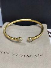 David Yurman Cable 3mm Pavé Diamond 14K Gold