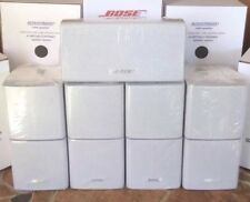 5 Bose MINT Double Cube Speakers Acoustimass Lifestyle 1 Center 4 Surround White