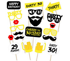20PCS 30th Thirtieth Year Birthday Party Supplies Masks Favor Photo Booth Props