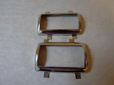 66-70 Mopar A B Body Dart Duster GTX Charger Brake & Clutch Pedal Bezel Set