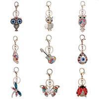 AU_ KE_ Crystal Rhinestone Handbag Charm Pendant Keychain Bag Keyring Key Chain