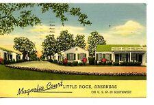 Magnolia Court Cottages-Little Rock-Arkansas-Vintage 1948 Advertising Postcard