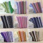 "7pcs assorted pre-cut many series plain cotton Quilt fabric DIY 19.68""x19""68"""