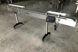 """Accutek 4.5"""" x 10' Long Stainless Bottle Conveyor with Speed Controls, Conveying"""