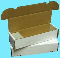 5 BCW 660 COUNT CARDBOARD CARD STORAGE BOXES Trading Sports Holder Case Baseball