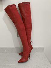 Fendi Rockoko Red Boots, Size IT37/UK4