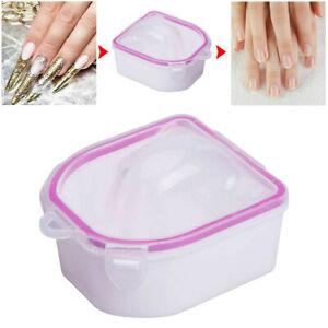 Finger Manicure BOWL TRAY Acetone Quick SOAK OFF  Proof ACRYLIC UV GEL Nails HOT