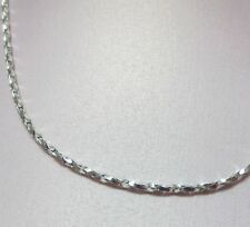 20 INCH 14KT WHITE GOLD EP 1.7mm SPARKLING TWISTED COBRA COMFORT CHAIN NECKLACE