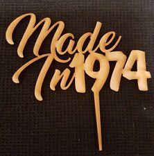 Laser Cut Wooden Cake Topper - Personalised in Year