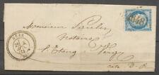 1875 Lettre Bèze GC 4648 sur n°60, CAD Type 24, Superbe. COTE D'OR X4006