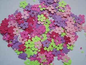 """Butterfly Wings Confetti mix of pink lavender lime green  dk pink 1"""" flowers"""