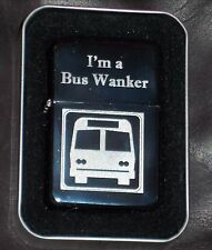 Engraved Silver Bus W*nker Inbetweeners Lighter Rude Offensive Birthday