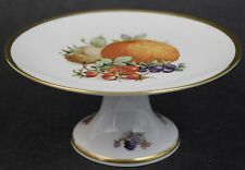 Vintage Signed Golden Crown Bavarian Porcelain Gold Gilt Footed Fruit Taza