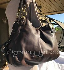 Coach L Madison Brown Leather Maggie Mia Shoulder Handbag Hobo Purse Tote 15742