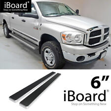 Running Board Side Step 6in Silver Fit Dodge Ram 1500/2500/3500 Crew Cab 09-18