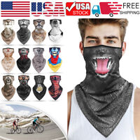 Animal Print Tube Scarf Headband Face Cover Neck Gaiter Bandana Balaclava Biker