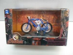 NewRay Indian Motorcycle 1:32. Indian Twin Racer (1908) In Blue
