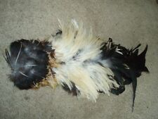 Rooster hackle and tail feathers plume millinery art fan Bustle Fly Tying hat