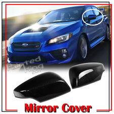 For SUBARU WRX4 STI Sedan XV Crosstrek Legacy Carbon Mirror Cover 12up
