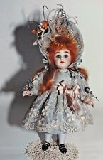 "7""ANTIQUE FRENCH ALL-BISQUE CHILD DOLL LACE DRESS&WIRED BONNET UNDERWEAR PATTERN"