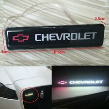 1Pcs JDM Chevrolet  LED Light Car Front Grille Badge Illuminated Decal Sticker
