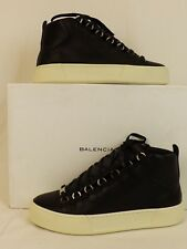 NIB BALENCIAGA ARENA HAMILTON BLACK LEATHER LACE UP HI TOP SNEAKERS 39 US 6