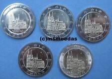 Deutschland BRD 5 x 2 Euro 2011 Kölner Dom NRW Euromünzen commemorative ADFGJ