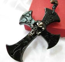 12pcs Punk Bleach crown skull Skeleton King Black Cross Pendant&necklace CST006