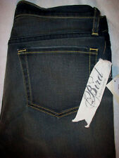 BIRD BY JUICY COUTURE VINTAGE 5 POCKET STRAIGHT WOMEN JEAN SIZE 27 x 30 NEW $228
