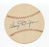 Sonny Dixon Signed Paper Baseball Autographed Signature Washington Senators
