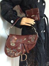 Tasche Christian Dior Original Saddle Bag Tasche und Geldbörse in Bordeaux