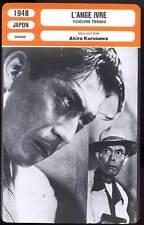 FICHE CINEMA : L'ANGE IVRE - Kurosawa 1948 - Yoidore tenshi / Drunken Angel
