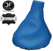 BLUE REAL LEATHER MANUAL GEAR GAITER FITS FIAT PANDA 2013+