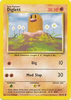 Diglett Common Unlimited Pokemon Card Original Base Set 47/102 Cards English NEW