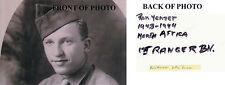 D-DAY Ranger Pointe-du-Hoc Ronald Yienzer WWII Omaha Beach SIGNED 4x6 PHOTO